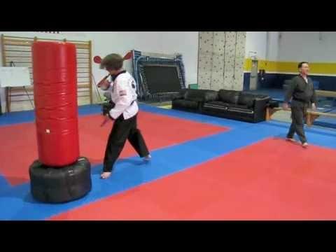 Nathan doing Taekwondo video