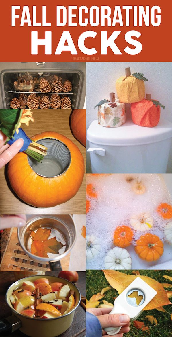Fall Decorating Hacks! How to decorate your space for the fall with DIY ideas that will save you time and money. Why haven't I thought of these before?