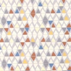 Bomull grå m multifrg abstrakte trekante