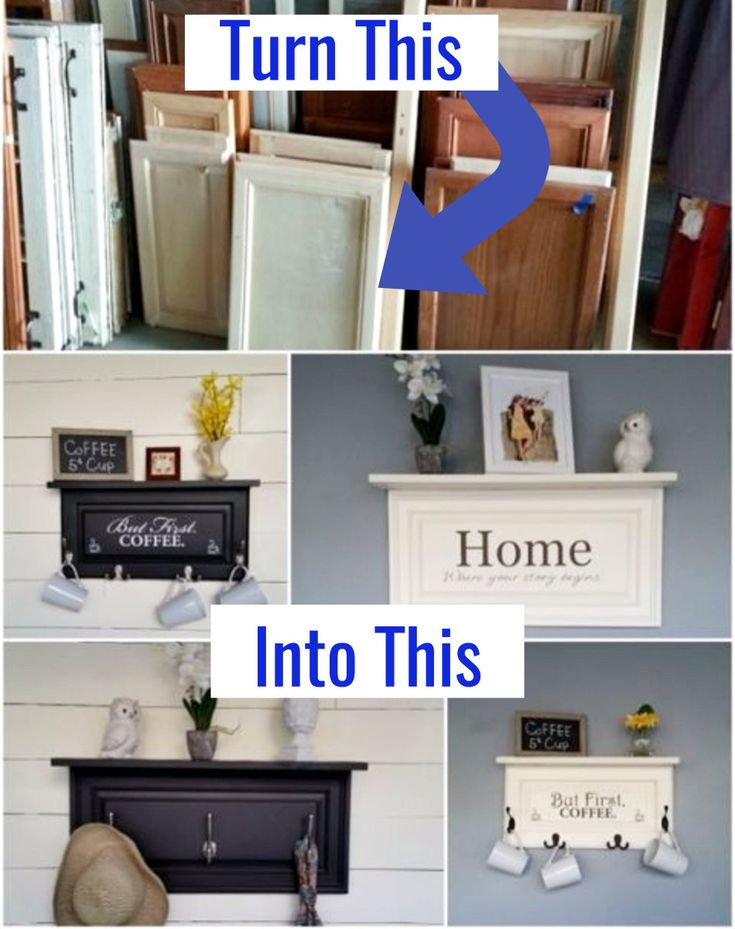 Upcycled Home Decor Ideas • Upcyle old kitchen cabinets into awesome DIY home decor