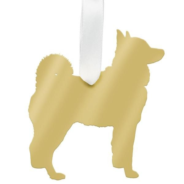 Named one of Oprah's Favorite Things for 2015, this adorable Husky ornament in mirrored gold or mirrored silver acrylic makes a great gift for the dog lover in your life. Measurements (approximate): O