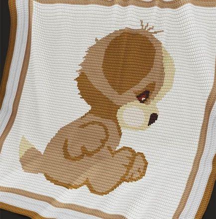Crochet Pattern | Baby Blanket / Afghan - Puppy