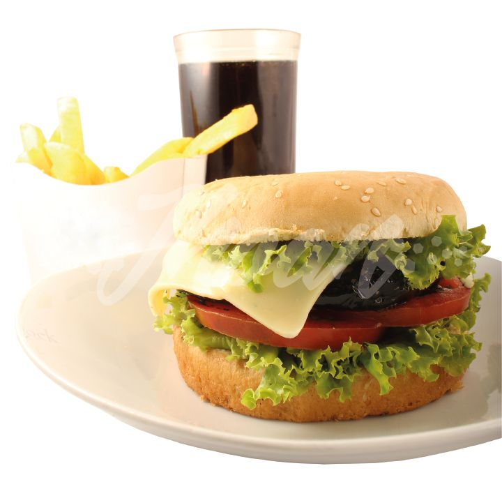 Fotografía de producto. Fotografía de comida rápida - Hamburguesa
