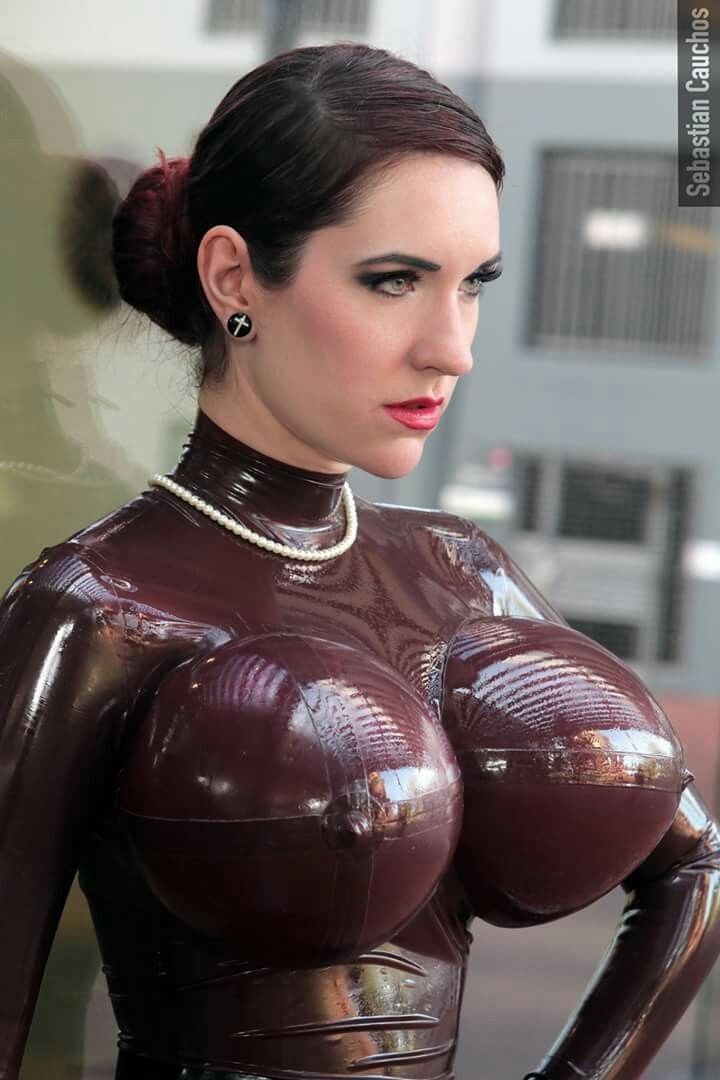 Pictures Showing For Inflatable Boob Latex Catsuit Porn -3481