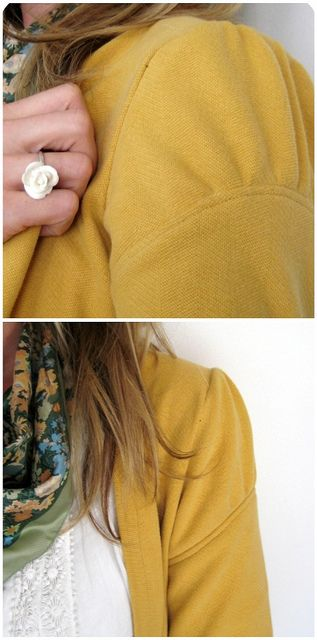 xl mens' sweatshirt altered to a cardigan - sleeve detail