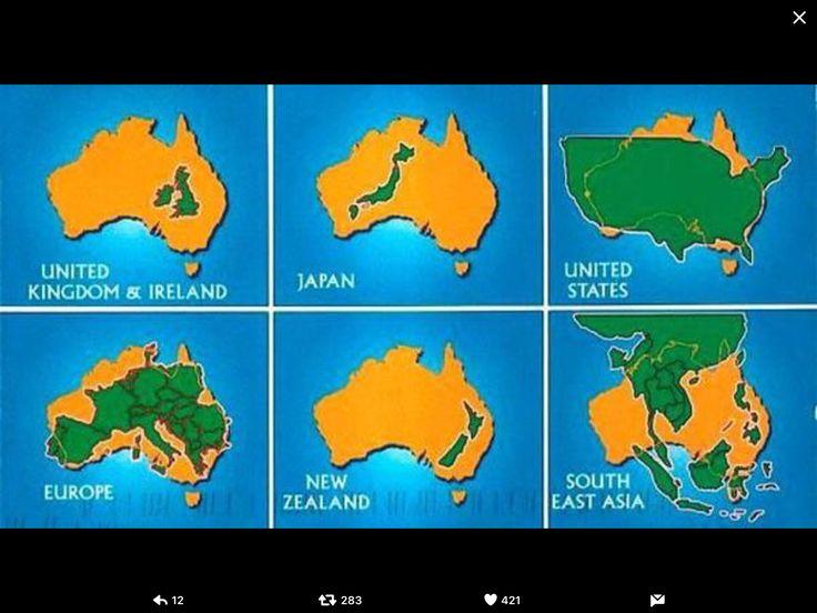 Je wel eens afgevraagd hoe groot Australië is?