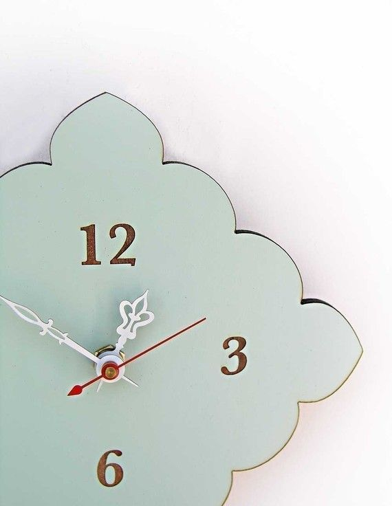 Tiny Scallop Clock Kitchen Clock Bathroom Clock By Uncommon Part 73