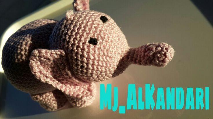 Baby elephant by crochet