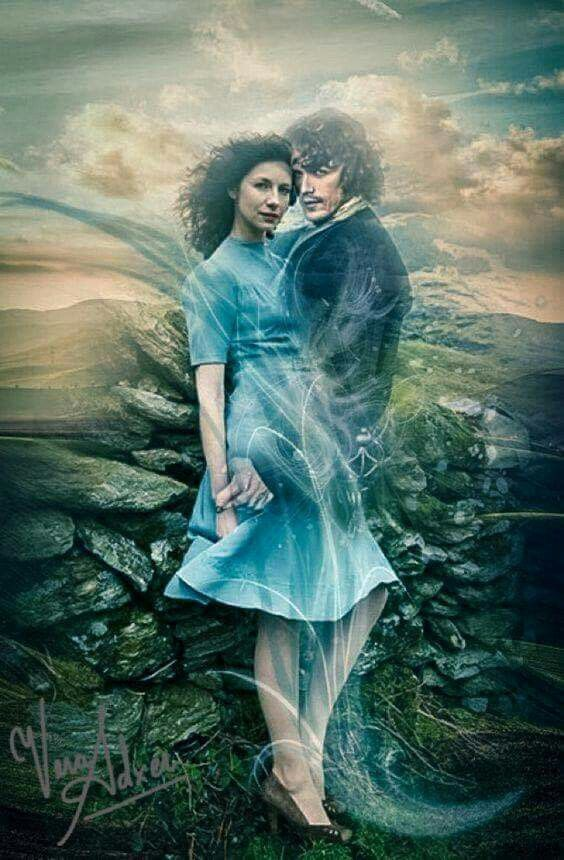 Fan art by ©Vera Adxer of Jamie and Claire