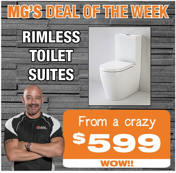 Check out Mark 'MG' Geyer's deal of the week this week #rimlesstoilet #whenqualitymatters #mgsdealoftheweek