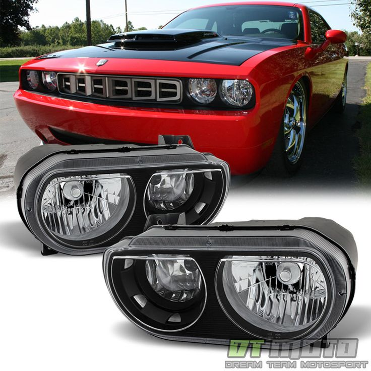 2008-2014 Dodge Challenger SE R/T Replacement Headlights Headlamps Left+Right #DTMOTO