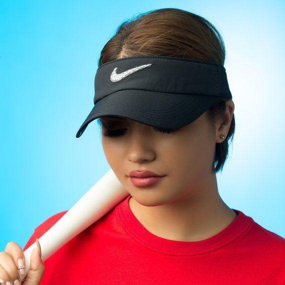 28f48f91da3b7b Mother's Day Gift, Swarovski Nike Visor Hat | Golf Visor, Tennis ...