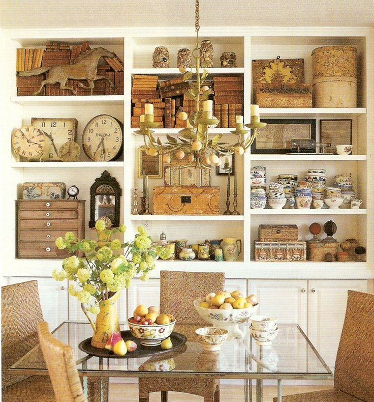 Shelf Displays http://the-feathered-nest.blogspot.com/2013/09/a-little-inspiration-for-you.html (950×1020)