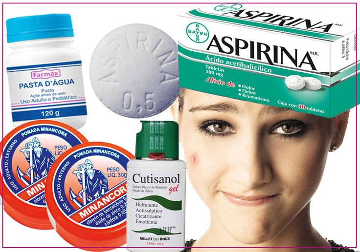Acne (Produtos) - Secativos - Pasta d' água; Aspirina; Minancora; Cutisanol