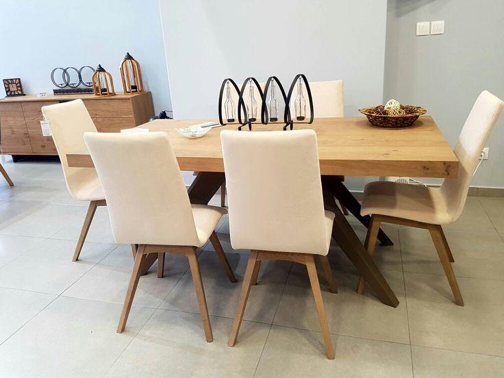 Τραπεζαρία ρουστίκ με πόδια σε τεχνοτροπία λάκας μετάλλου Προσφορά -40% έκπτωση    Απλό και ταυτόχρονα εντυποσιακό ενα τραπέζι που θα σας κερδίσει με την πρώτη ματιά επισκεφθείτε την έκθεση μας ώστε να το δείτε απο κοντά   Ελληνικής κατασκευής με μεγάλη επιλογή αποχρώσεων του ξύλου και διχρωμία μεταλλικής λάκας στα πόδια.  Διαστάσεις 180 cm x 95 cm + 40 cm προέκταση φύλου.   *Διαθέσιμο στην έκθεση μας.  *Παράγεται σε ότι διάσταση επιθυμείτε