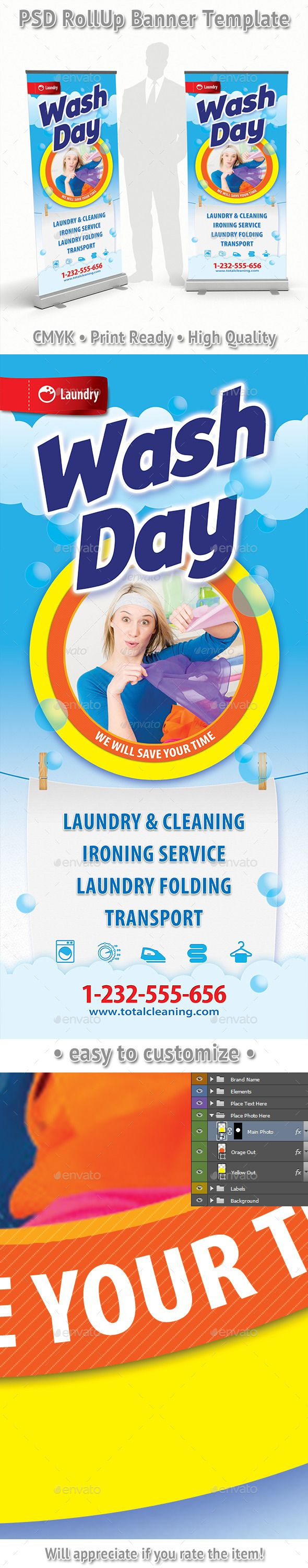 Laundry Service Rollup Banner 68