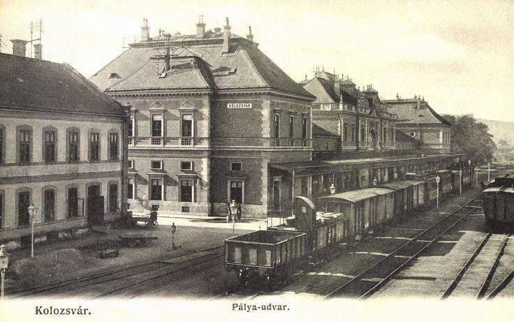 Kolozsvár:pályaudvar,vasútállomás,1906. Railway station.