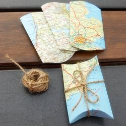 Holiday Gift Wrapping Ideas, could use old books, posters etc too - because recycling rocks!