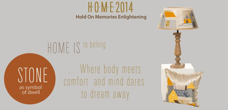 H.O.M.E. Collection 2014 Hold On Memories Enlightening  STONE as a symbol of dwell Home Is To Belong  …Where body meets comfort and mind dares to dream away  CITYSCAPE  lamp, unique design with fabric, 40x40x70 cushion, unique design with fabric, 50x50  As night falls over the city, from all houses in the street only one remains special, personal factory of memories.  #HOME #irinaneacsu #Florence