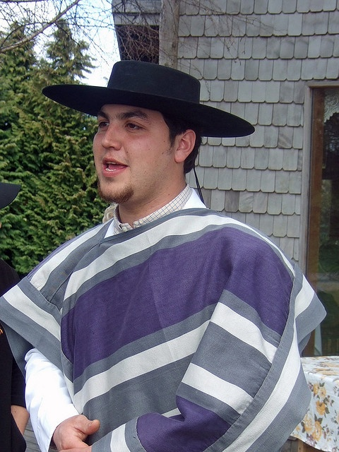 Chilean huaso in traditional dress