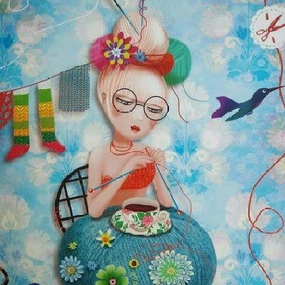 Knitting ~ by Peggy Nille