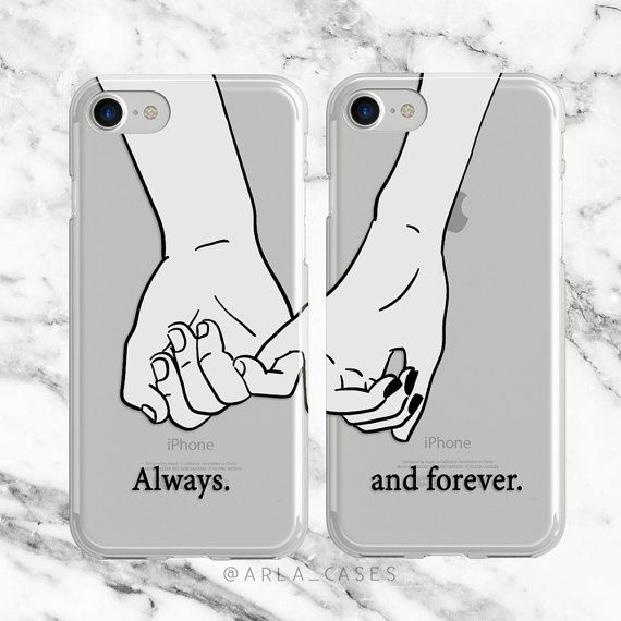 Couples Phone Case, iPhone 7 Plus Case, Samsung Galaxy S9, iPhone 6, S8 Case, Long Distance Relationship, Pinky Promise, Gifts for Her, TPU