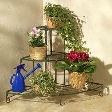 Flower Stairs and Bench Iron Plant Holder