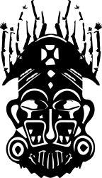 african mask sticker by fantastick wall art #fantastick #onyourwall #wallart #sticker #home #deco