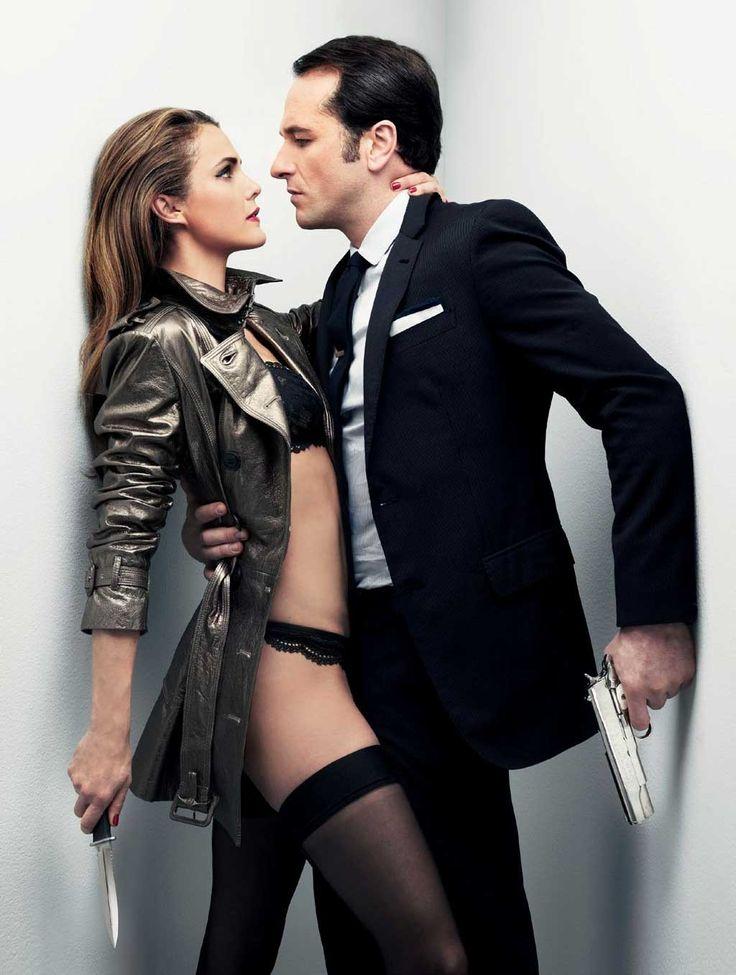 Keri Russell & Matthew Rhys are Russian Models in GQ