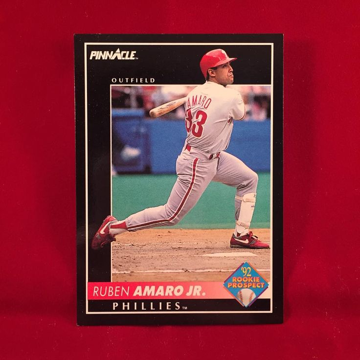 Happy Birthday Ruben Amaro Jr!!! 1992 Pinnacle Rookie Prospect Ruben Amaro Jr And dont forget if you like if you like Rhys Hoskins Aaron Nola and the rest of the Phillies youngsters thank the Rube. We all loved him when he assembled R2C2. Not his fault they couldnt win a 5 game series. Also catch his teenage character on the Goldbergs! . . . #phillies #philadelphiaphillies #rubenamarojr #pinnacle #1992 #baseballcards #baseballcard #thegoldbergs #rhyshoskins #mlb #baseball #philly…