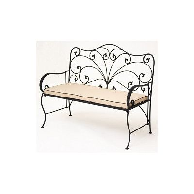 iron patio bench | JJ International Allysandra Wrought Iron Garden Bench