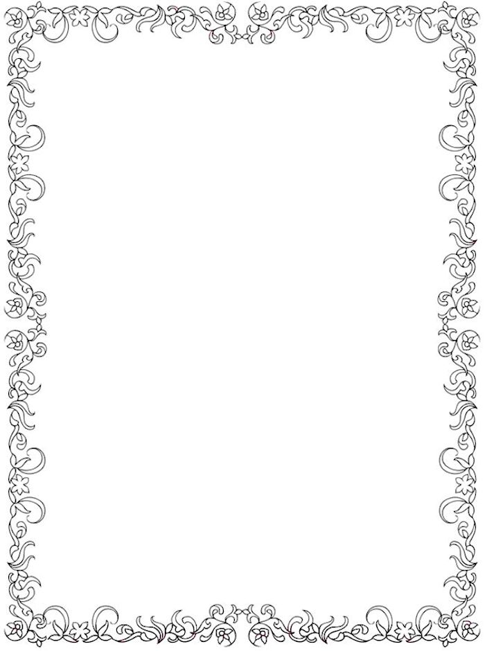 Dover Creative Haven Floral Coloring Page Frame
