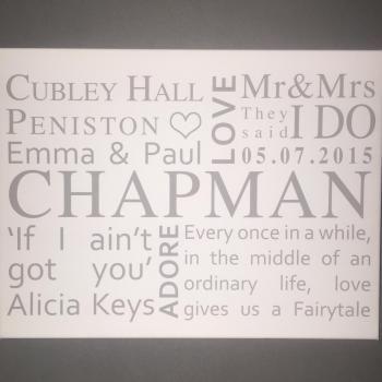 Personalised Wedding Canvas 5
