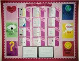 This poetry bulletin board is based on an idea from Georgia Heard's wonderful book AWAKENING THE HEART.  It incorporates the doors of poetry, or different ways one can approach writing a poem.  Don't miss the book!