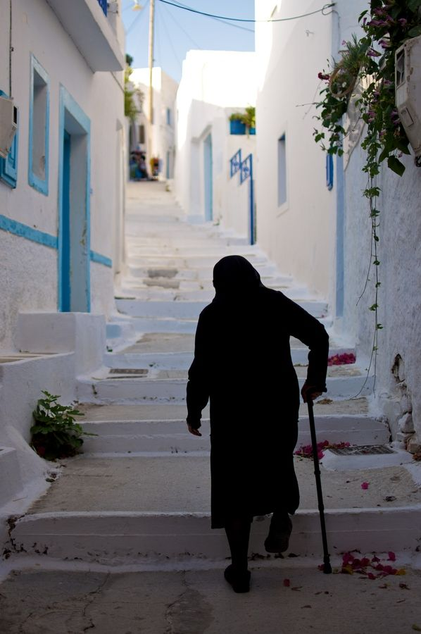 Life in Lagkada. Amorgos, Greece