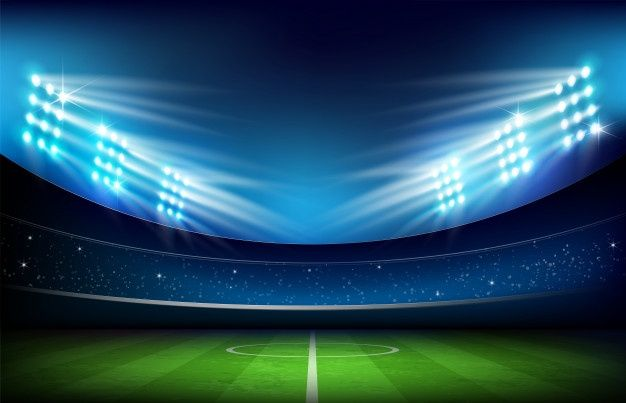 Soccer Stadium And Lighting Premium Vector Freepik Vector Background Green Sport Football In 2020 Soccer Stadium Stadium Nature Logo Design