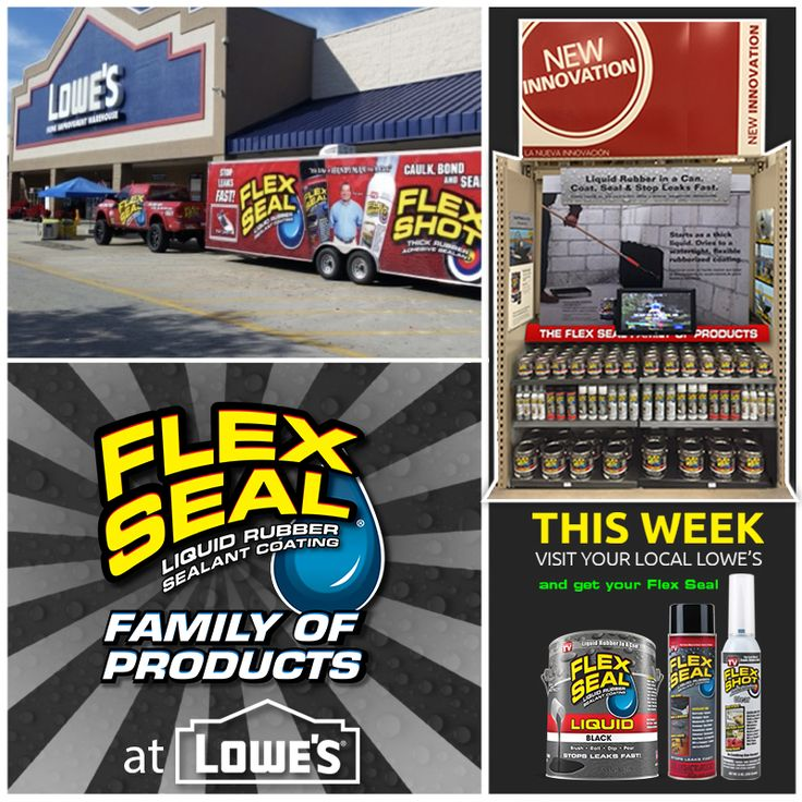 Need a can of Flex Seal ASAP? Stop by your local Lowes Home Improvement and pick up your can TODAY!