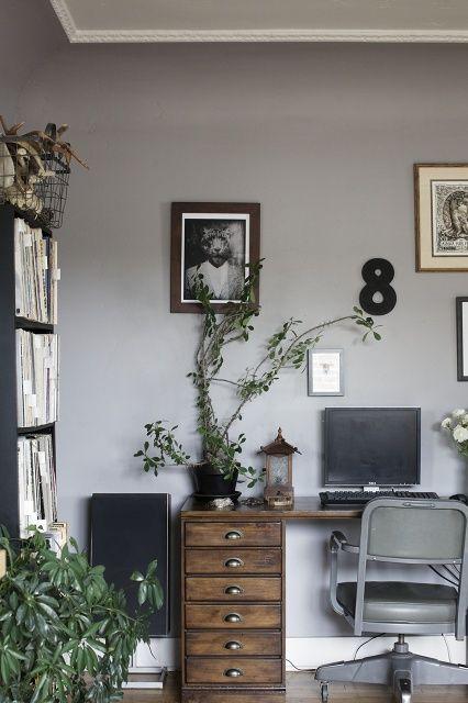 grey walls + rustic