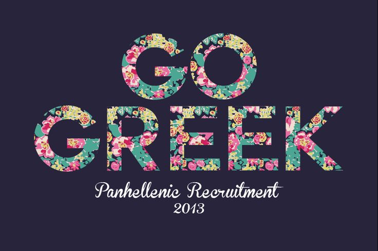 "❀ great women go greek! ❀ | floral ""Go Greek"" logo"