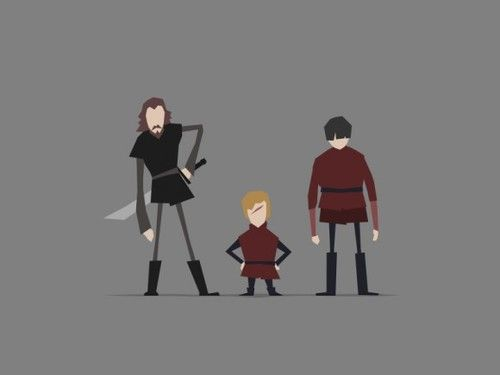 This wonderful set of Game of Thrones character art comes from Jerry Liu, a 2D animator, art director, and designer.