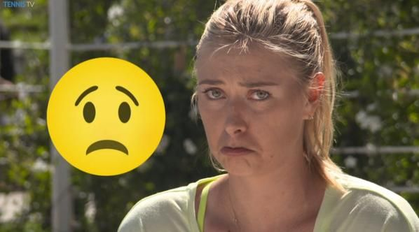 Tennis star Maria #Sharapova mimics your favorite emojis. #sadface