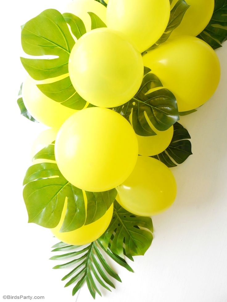 Elegant DIY Balloon U0026 Fronds Tropical Party Centerpiece Part 23