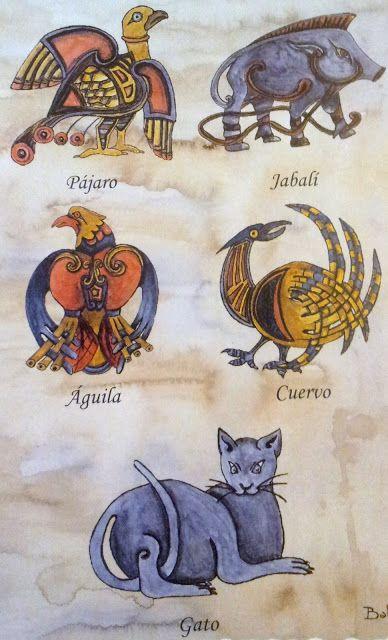Simbolos Celtas com animais