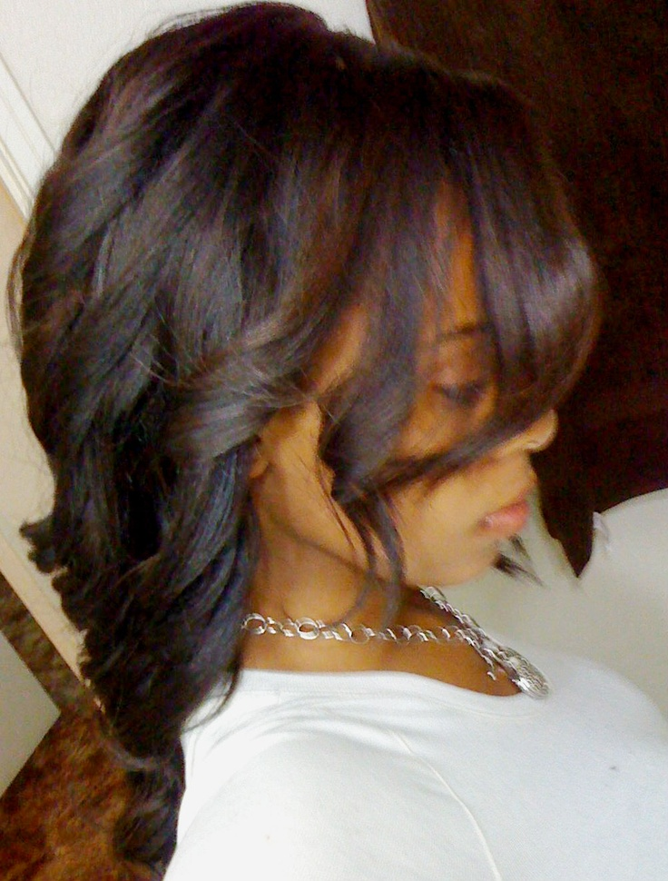 Natural Straight Hair Dyed With Chocolate Brown Highlights