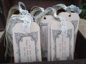 Vintage Chest & 50 Happily Ever After Wish Tree Tags
