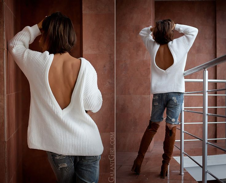 open back sweater, Galant girl, fashion blog,