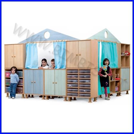 Arredamento per la zona gioco di asili, ludoteche, scuole, aree gioco, componibili e certificati