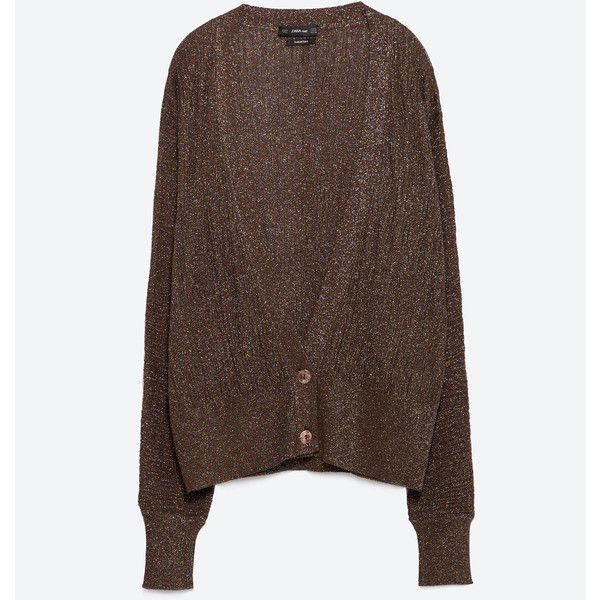 Zara Cardigan With Bat Sleeves (1.830 RUB) ❤ liked on Polyvore featuring tops, cardigans, brown, bat sleeve tops, bat sleeve cardigan, zara cardigan, batwing sleeve tops and cardigan top
