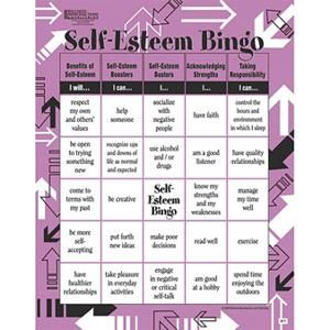 Adult Bingo Game, Self Esteem