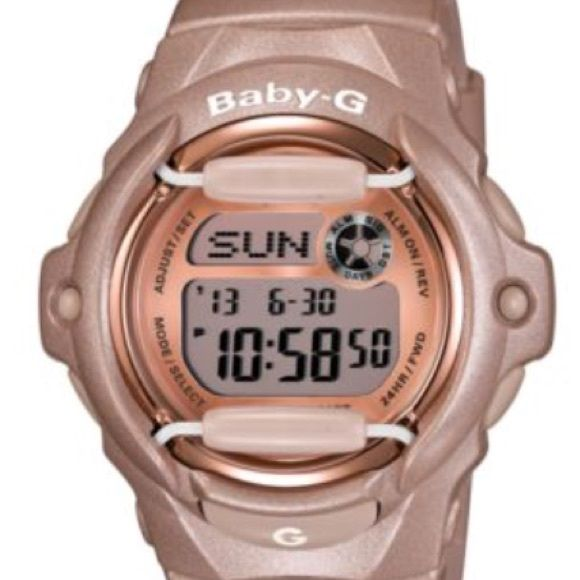 Ladies baby-g shock watch Worn once...excellent condition...firm on price! Baby-G shock Accessories Watches